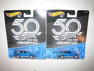 Hot Wheels 2 50Th Anniversary Favorites 71 Datsun Bluebird 510 Momc Low Ship A