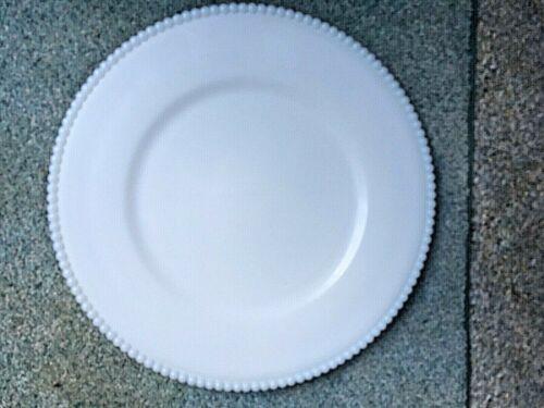 "Westmoreland Milkglass Round Plate 10 1/2"" Beaded Edge"