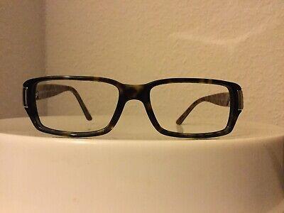 VERSACE Vintage Brillenfassung Rahmen Gestell Mod. 3103 Braun Gold Schmale Form