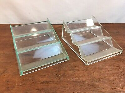 Counter Top Point Of Sale Plastic Clear Store Small Display Fixtures Set Of 2