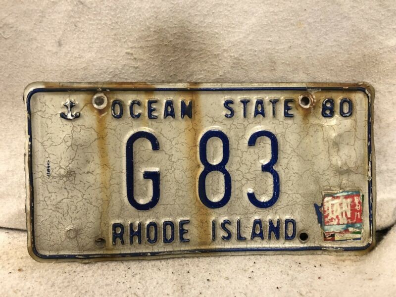 1980 Rhode Island License Plate