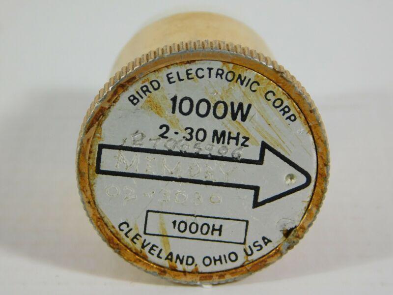 Bird 1000H 2-30MHz 1000W Slug Element for Model 43 Wattmeter (accurate)