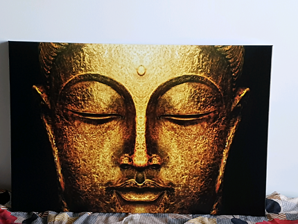 Framed buddha canvas print brand new 24