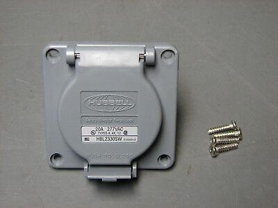 Hubbell Hbl2330sw Twist-lock Receptacle Weatherproof 20 Amp 277 Vac