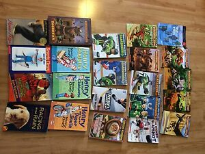 Bunch of boys books. Dinosaur Cove. Slap Shots hockey books