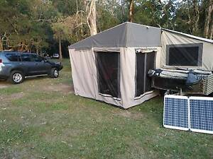 Soft Floor camper trailer w/ extra room, fridge/tool boxes, solar Rochedale South Brisbane South East Preview