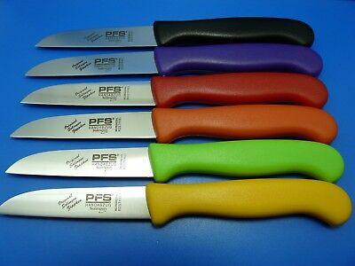 Küchenmesser Schälmesser Gemüsemesser PFS Solingen Edelstahl gerade div. Farben Gemüsemesser