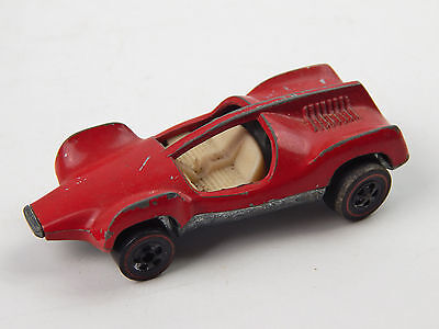 1969 Hot Wheels Redline Double Vision Red Enamel Car No Windows Hong Kong