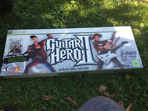 Guitar hero 2 game and guitar for the Xbox 360