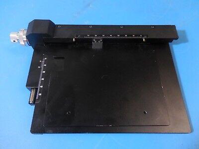 Meiji Techno Ma564 Mechanical Stage 116mm X 137mm Work Space 50-75mm X-y Travel