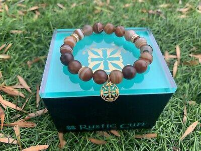 Rustic Cuff Brown Gold Trina Bracelet