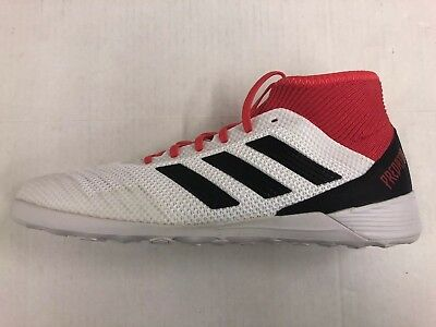 1a3f26b9f Adidas Predator Tango 18.3 Indoor Soccer Shoes 10.5 White Black Coral  CP9929 New