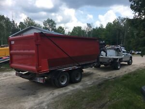 Roll off trailer and Bins