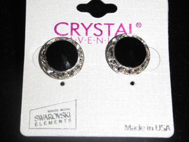 Black Crystal earrings dance moms Ballroom competition perfomance swarovski kids