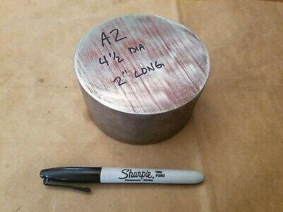 A2 Tool Steel Round Rod Bar 4-12 Dia. X 2 Long  Lathe Stock