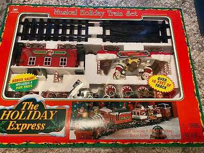 The Holiday Express Musical Christmas Train Set #0181 by New Bright Vintage 1996