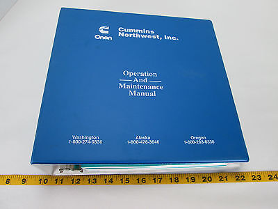 Onan Operationmaintenanceparts Manual Set Genset Dgfa Spec Kl Drive 6cta8.3 L