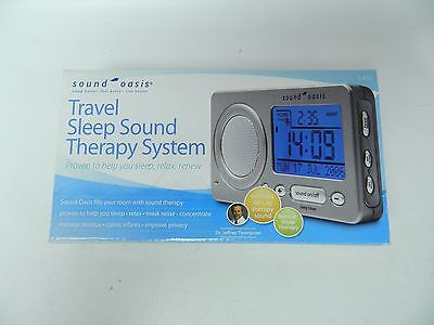 NIB Sound Oasis S-850 Travel Sleep Sound Therapy System Travel Alarm Clock Timer