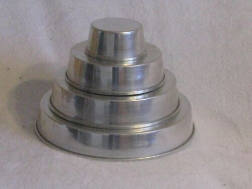 Vintage Four Tier Cake Pans from 1955 New
