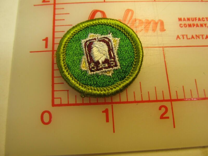 Rolled edge Type G STAMP COLLECTING merit badge patch (g9)