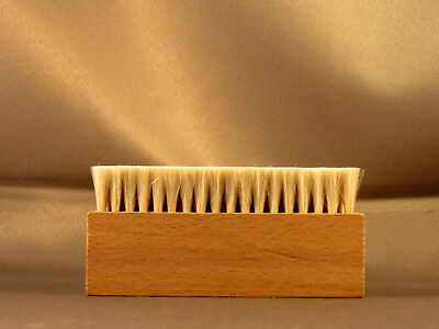 - Wooden 3 row Anti Static Goat Goat's Hair Record Brush Deep Cleaner Clean Vinyl