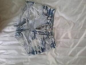 high wasted denim ripped shorts Wandandian Shoalhaven Area Preview