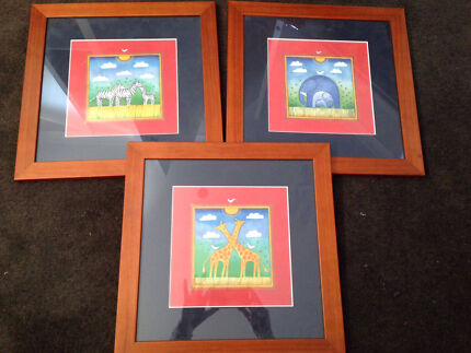 3 frames with prints  Carrum Downs Frankston Area Preview