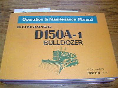 Komatsu D150a-1 Operation Maintenance Manual Bulldozer Dozer Operator Guide Book