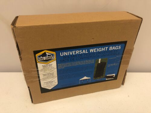 NEW SET OF 4 KING CANOPY UNIVERSAL WEIGHT BAGS POP UP INSTAN