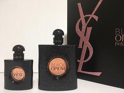 BLACK OPIUM YSL WOMEN PERFUME GIFT SET EDP SPRAY 3.0 OZ + 1.0 oz NEW IN BOX