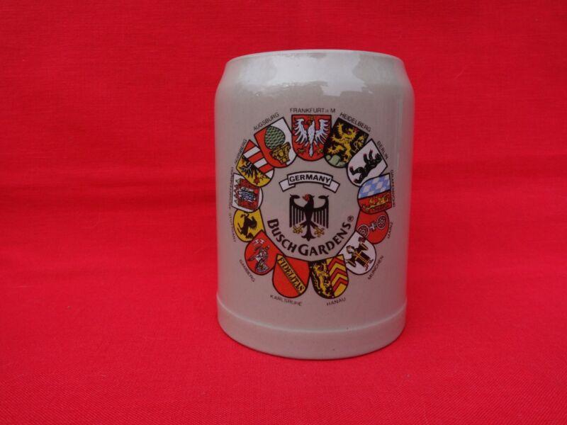 Busch Gardens Stoneware .5 Liter Beer Stein Mug German Made West Germany Thewalt