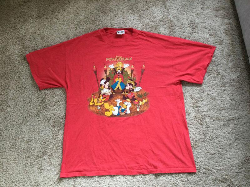 Vintage Disney Polynesian Resort T Shirt Made in USA Size xl 100% Cotton
