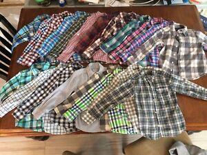 24 Chemises pour garçon (+/- 4 ans)