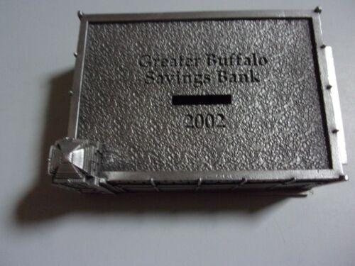 2002 Greater Buffalo Savings Bank Pewter Bank