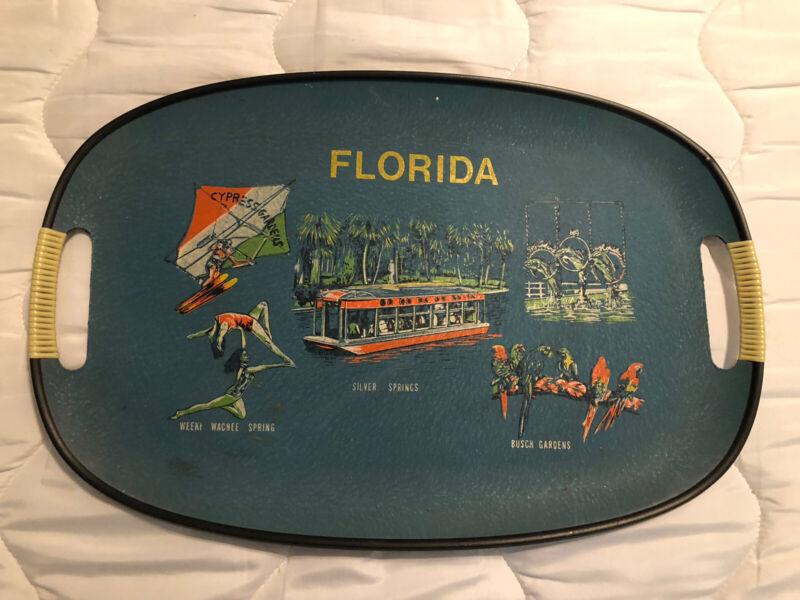 vintage florida souvenir tray