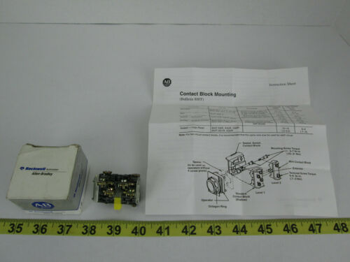 New NIB A-B Allen-Bradley Contact Block 800T 800T-XA