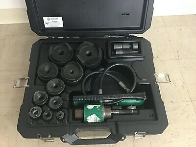 Greenlee 7310sb 11-ton Hydraulic Knockout Kit Hand Pump Slug-buster 12 To 4