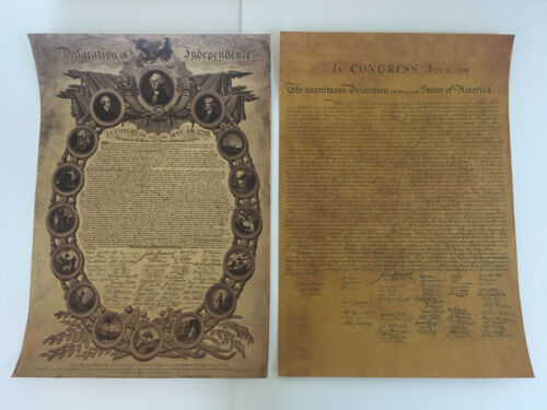 Declaration of Independence Poster Print USA American Revolution Posters