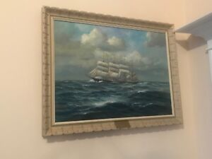 Autographed painting by the artist K. Schrader