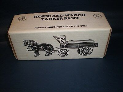 1990 ERTL Baltimore Gas & Electric Horse And Wagon Tanker Bank In Orig Box **NEW