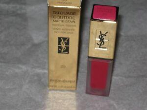 YSL # 20  LIPSTICK Tatouage Couture Liquid Matte Lip Stain $36.00 NEW
