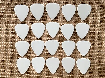 20 PERSONALIZED Guitar Picks Solid white YOUR NAME ON PICKS!! Medium .72mm