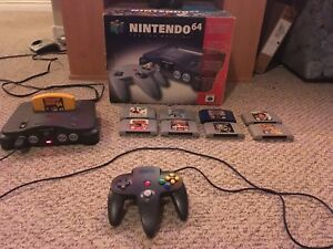 N64 + Box + One Controller + Jumper Pack + 1 Game (FIRM)
