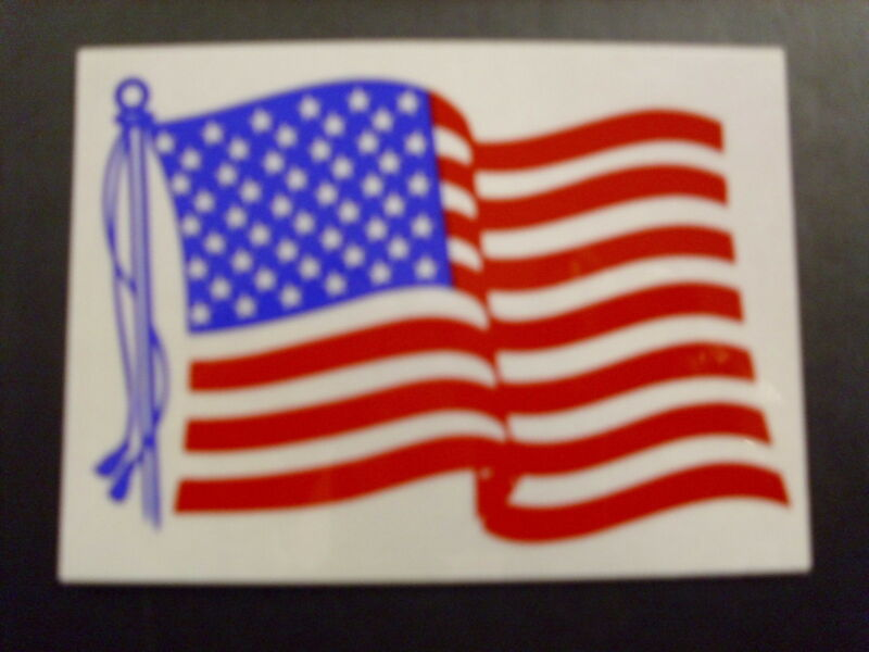 "AMERICAN FLYING 2"" UNITED STATE FLAG REFLECTIVE DECAL"