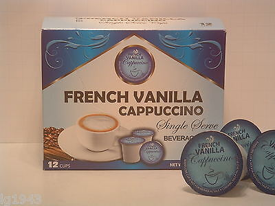 French Vanilla Cappuccino flavored 12 Single Serve cups for the K-Cup Brewer