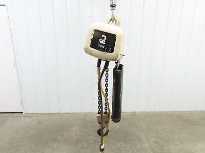 Coffing Elc 4008.1 2 Ton 4000 Lb Electric Chain Hoist 15 Lift 8fpm 115v 1ph