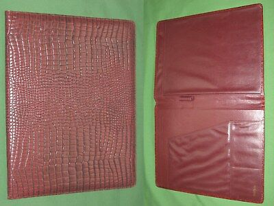 Note Pad 8.5x11 Red Reptile Leather Buxton Planner Binder Franklin Covey Monarch