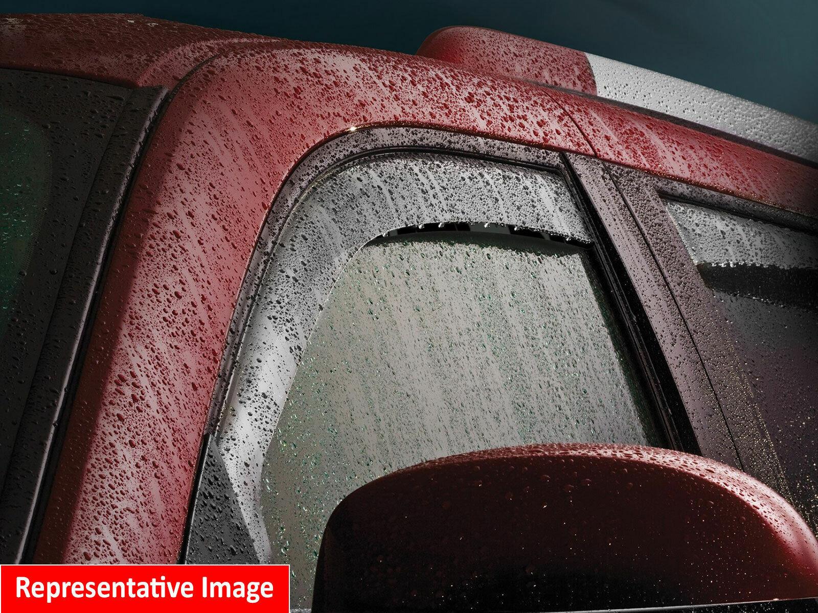 Dark Smoke WeatherTech Custom Fit Rear Side Window Deflectors for GMC Acadia