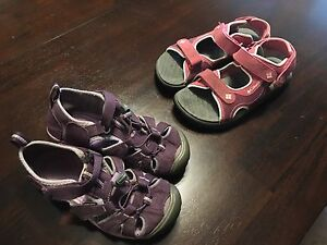 Girls Columbia and keen sandals
