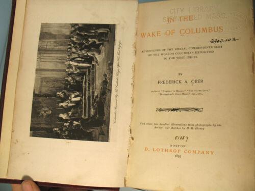 Wake of Columbus 1893 FIRST EDITION World